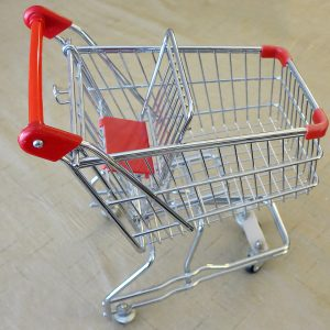 Small Steel Shopping Cart