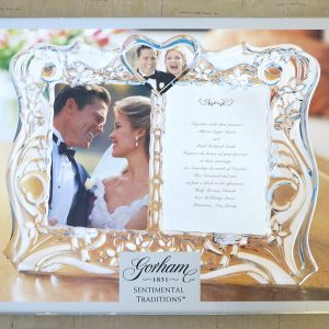 Gorham 1831 Sentimental Traditions Crystal Wedding Invitation Picture Frame