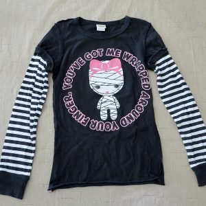 Harajuku Mini Halloween Shirt, Size M (7/8), You've Got Me Wrapped Around Your Finger